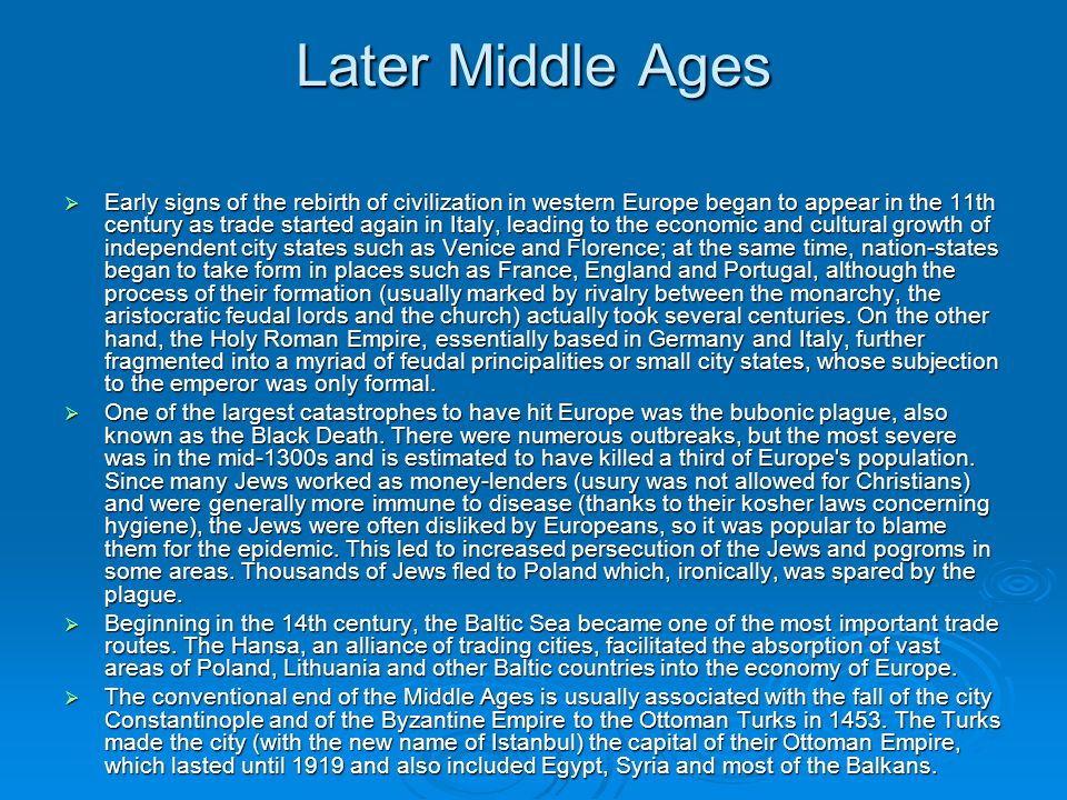 Later Middle Ages