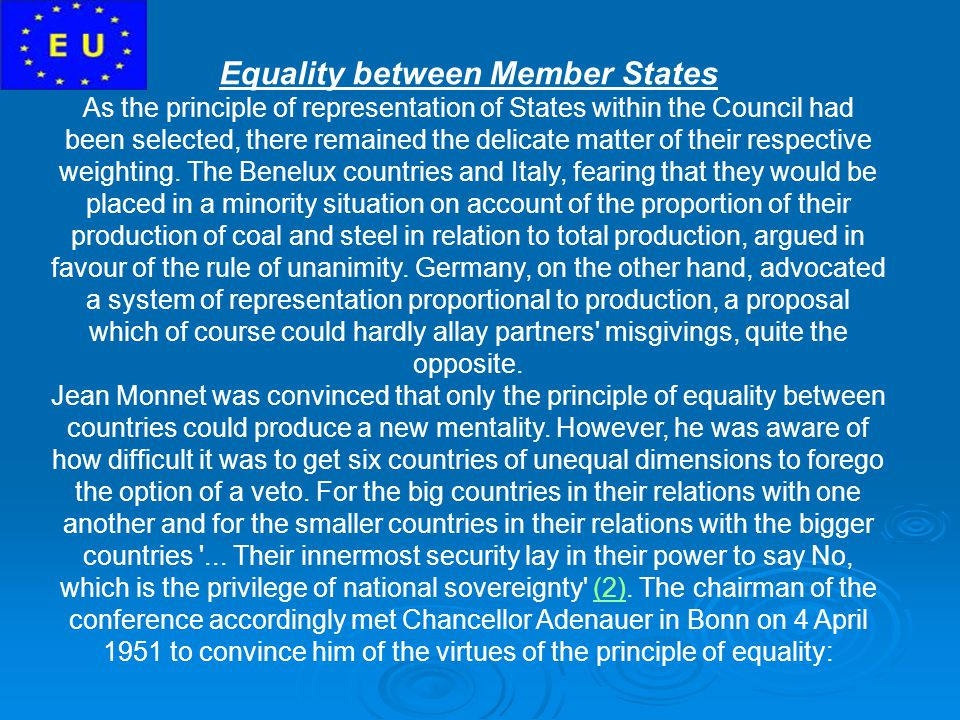 Equality between Member States