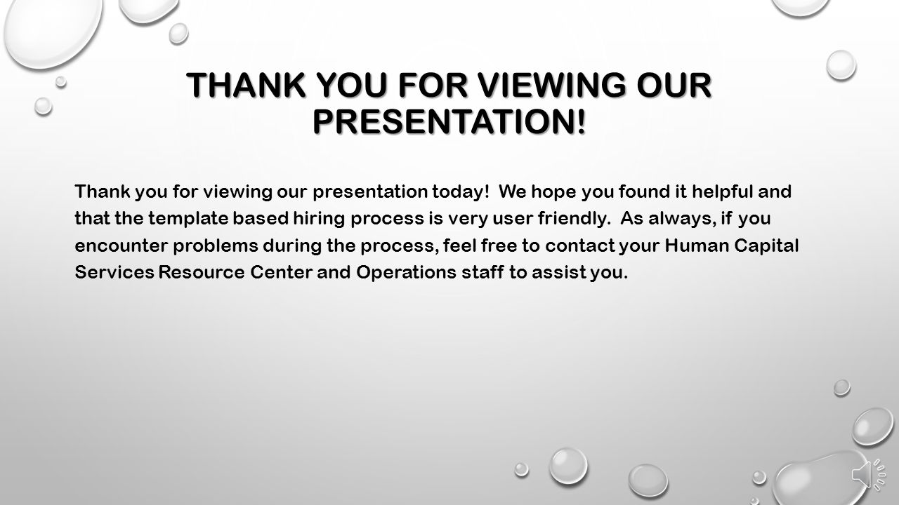 Thank you for viewing our presentation!