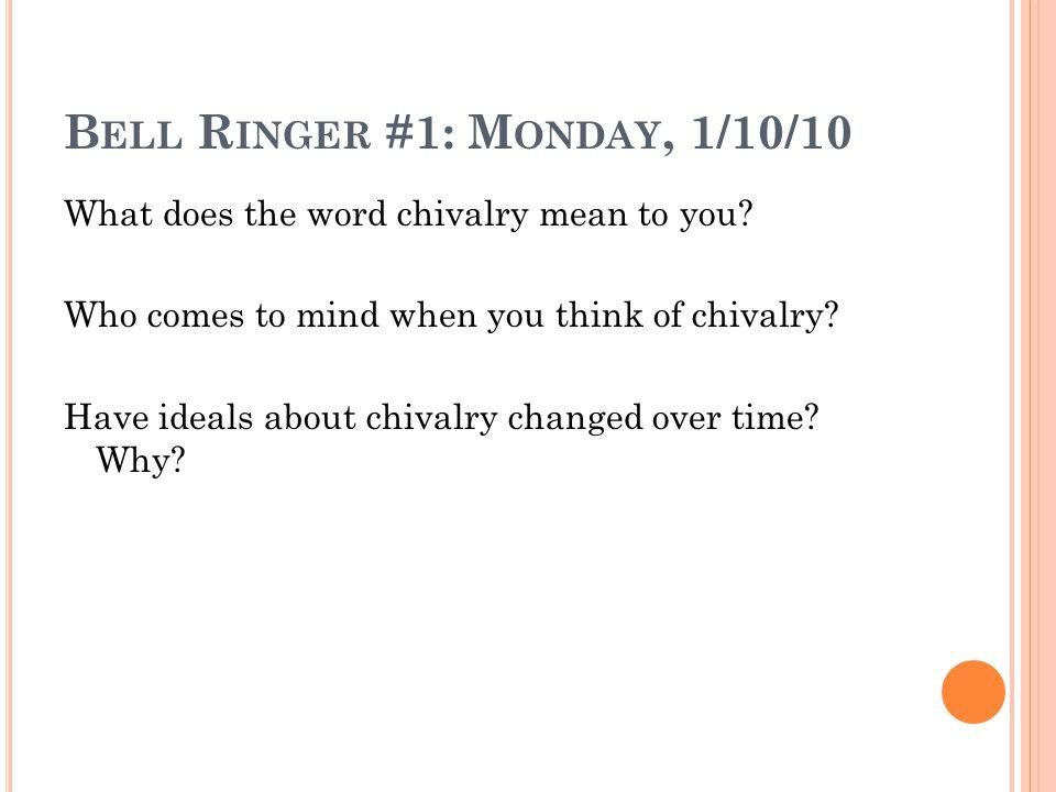 Bell Ringer #1: Monday, 1/10/10