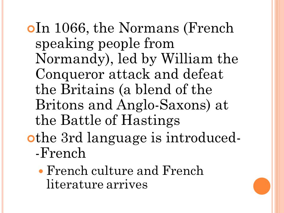 the 3rd language is introduced- -French