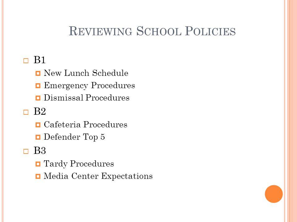 Reviewing School Policies