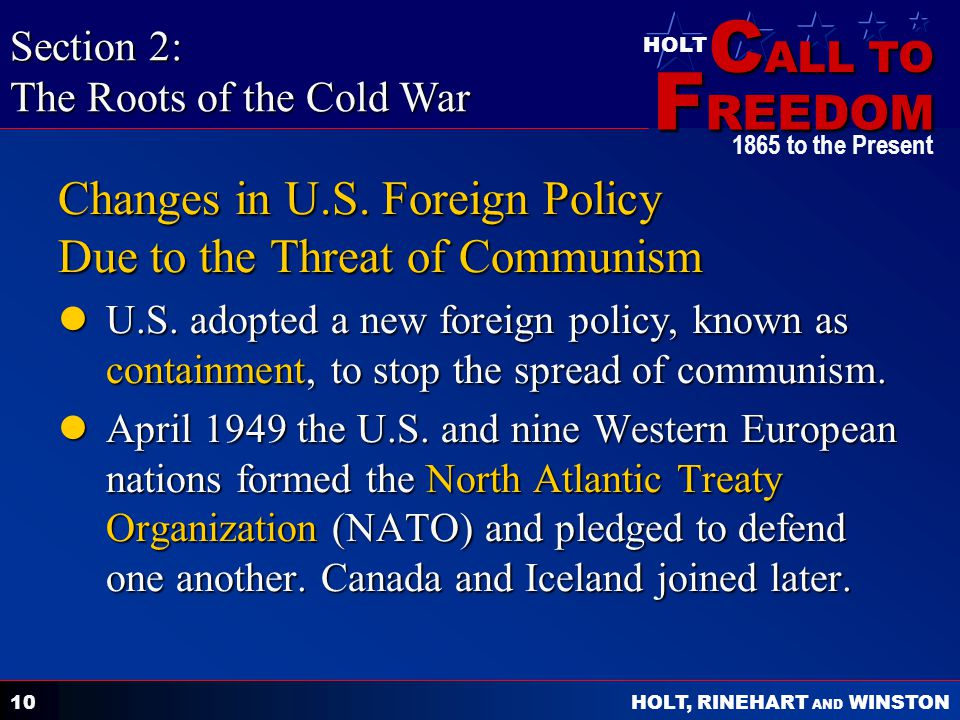 Changes in U.S. Foreign Policy Due to the Threat of Communism