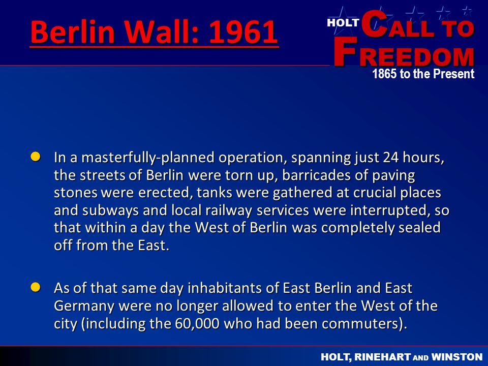 Berlin Wall: 1961