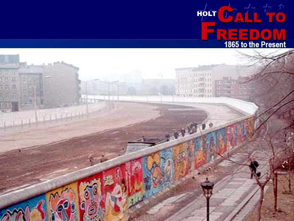 Berlin Wall in the 1980's