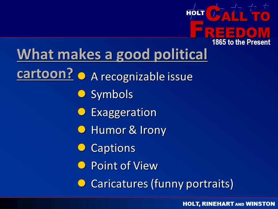 What makes a good political cartoon