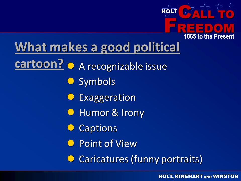 What makes a good political cartoon