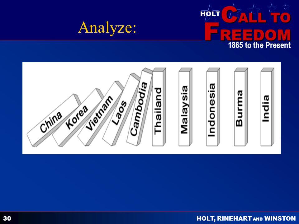 Analyze: