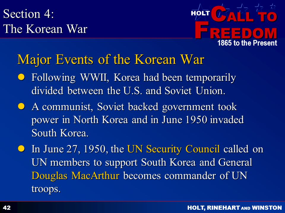 Major Events of the Korean War