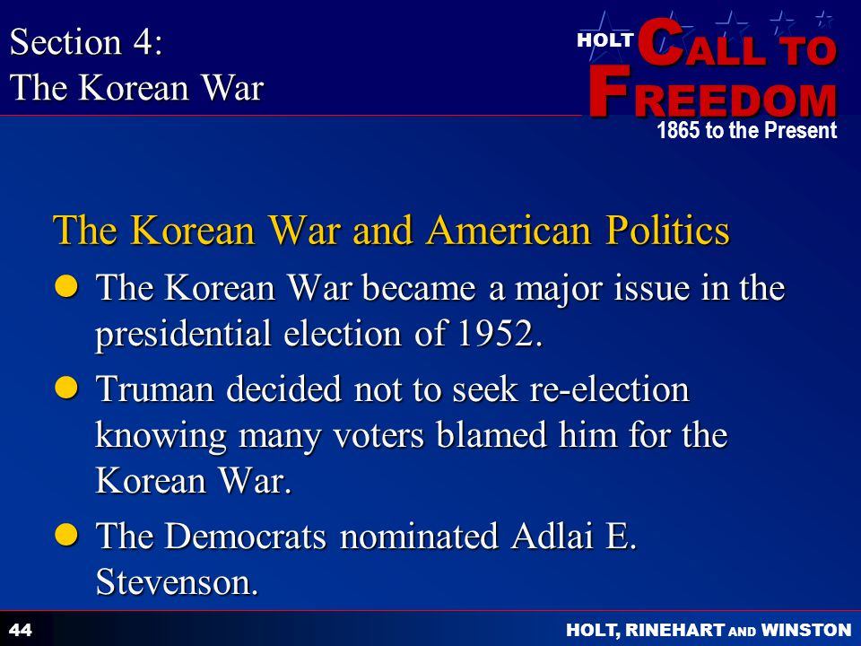 The Korean War and American Politics
