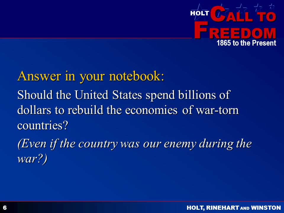 Answer in your notebook: