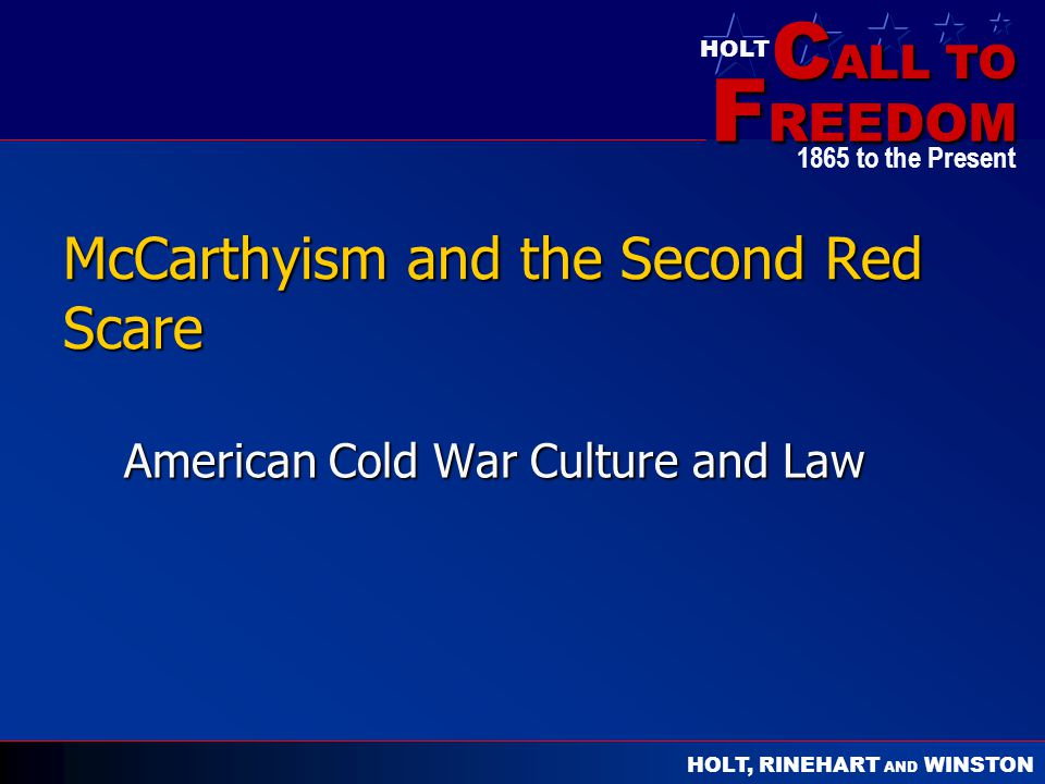 McCarthyism and the Second Red Scare