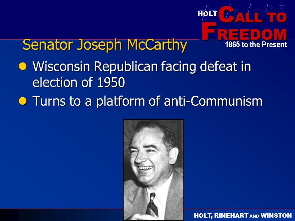 Senator Joseph McCarthy