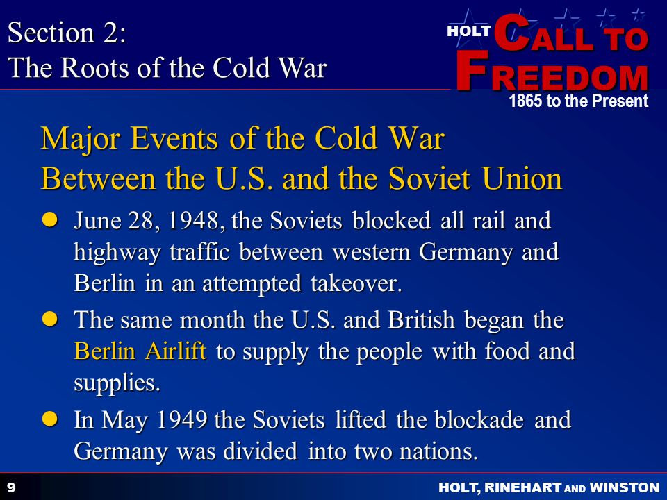 Major Events of the Cold War Between the U.S. and the Soviet Union