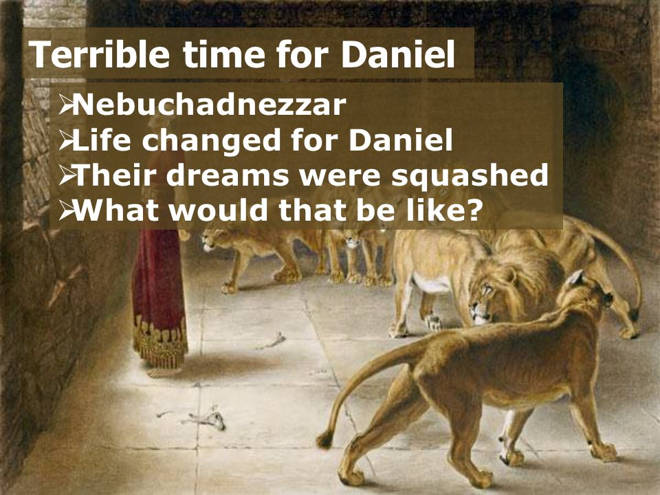 Terrible time for Daniel