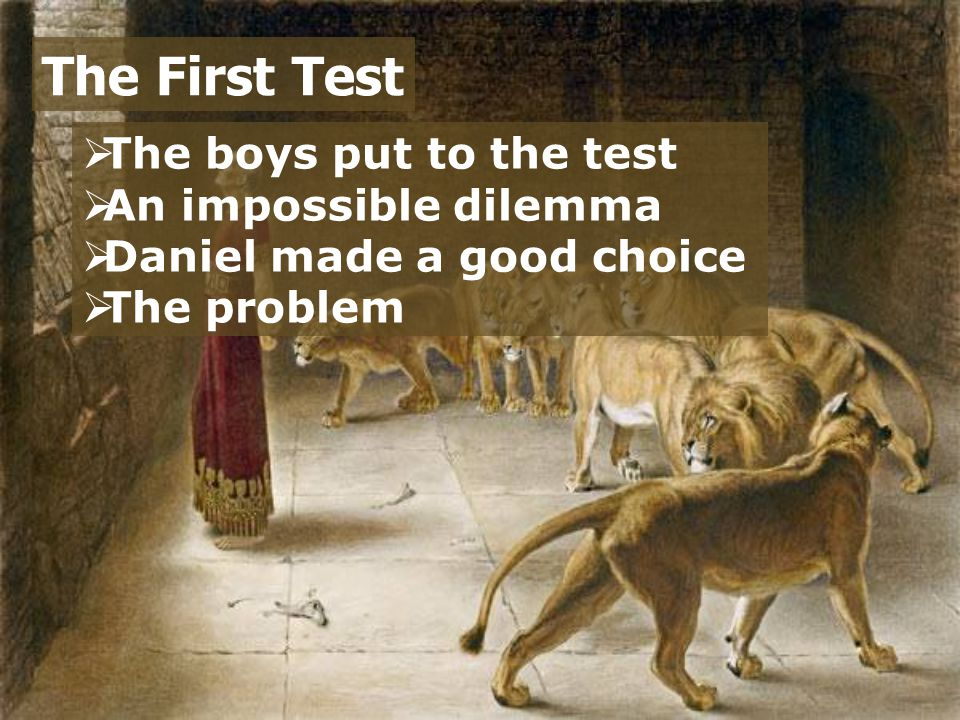 The First Test The boys put to the test An impossible dilemma