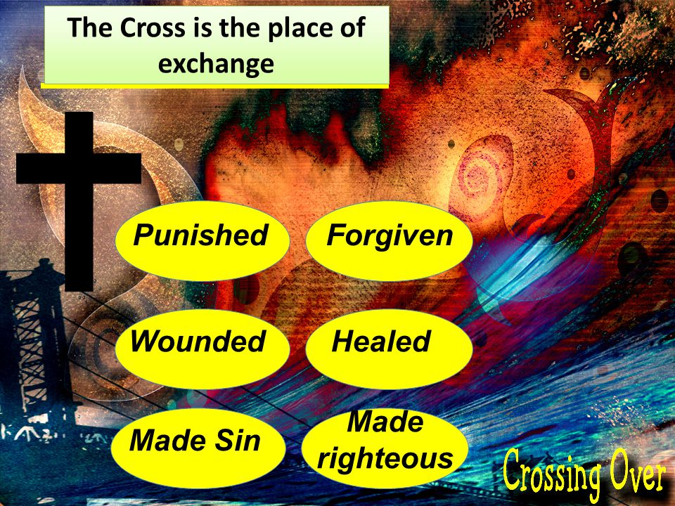 The Cross is the place of exchange