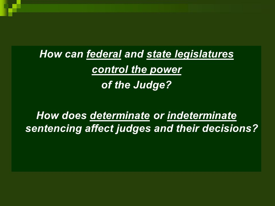 How can federal and state legislatures