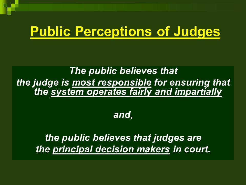 Public Perceptions of Judges