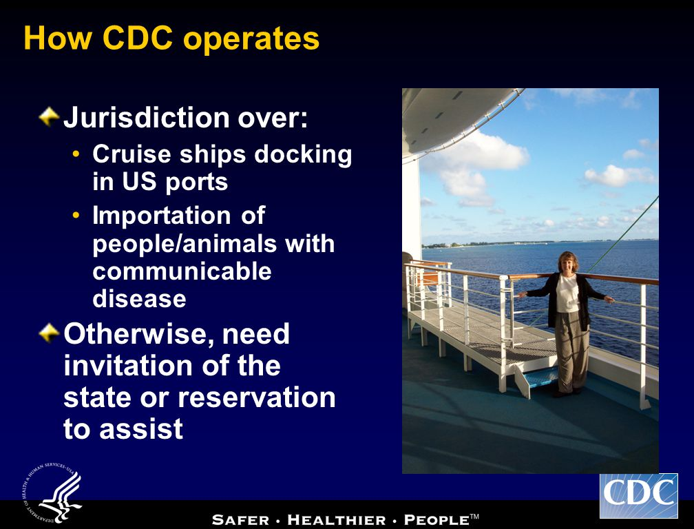 How CDC operates Jurisdiction over: