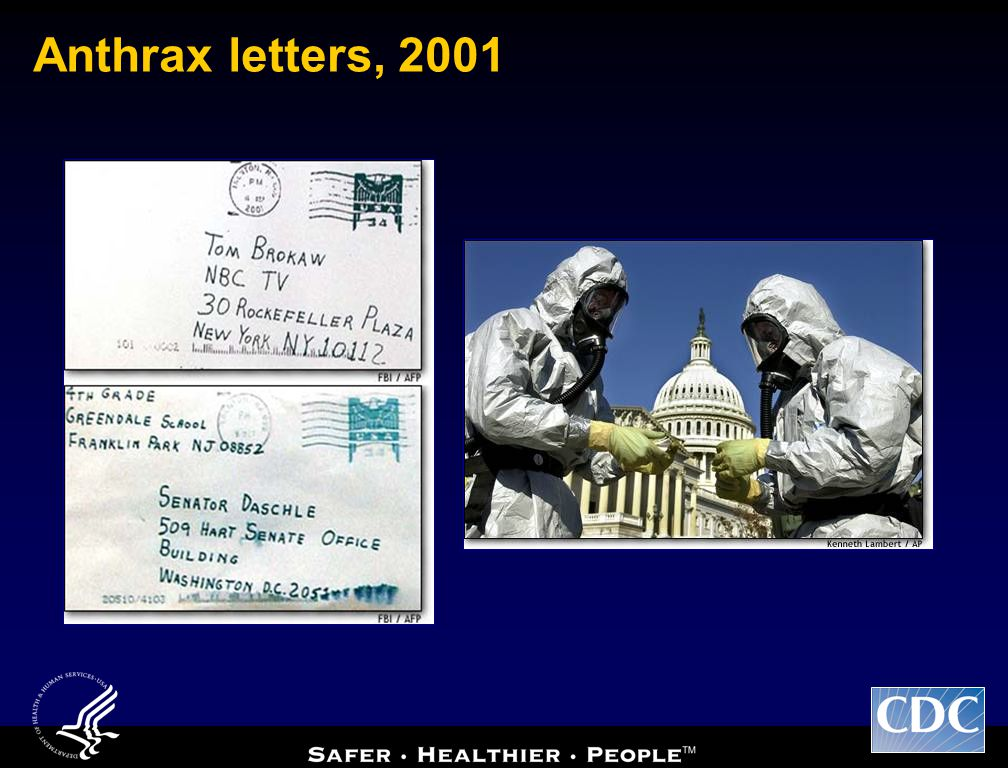 Anthrax letters, 2001