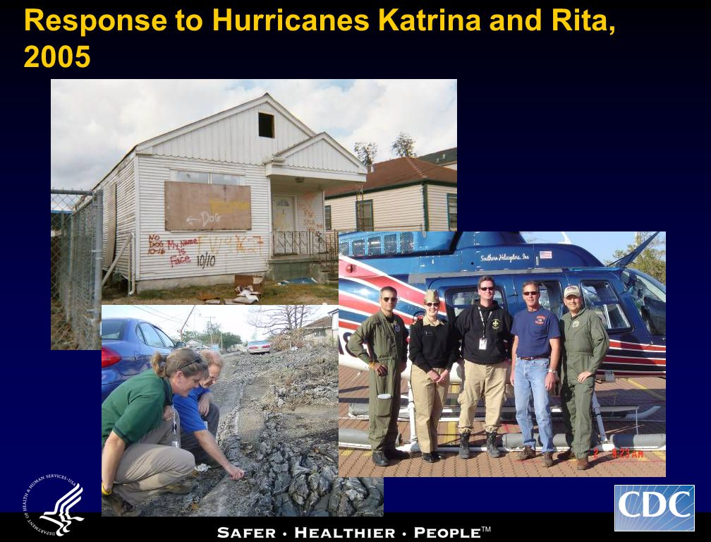 Response to Hurricanes Katrina and Rita, 2005