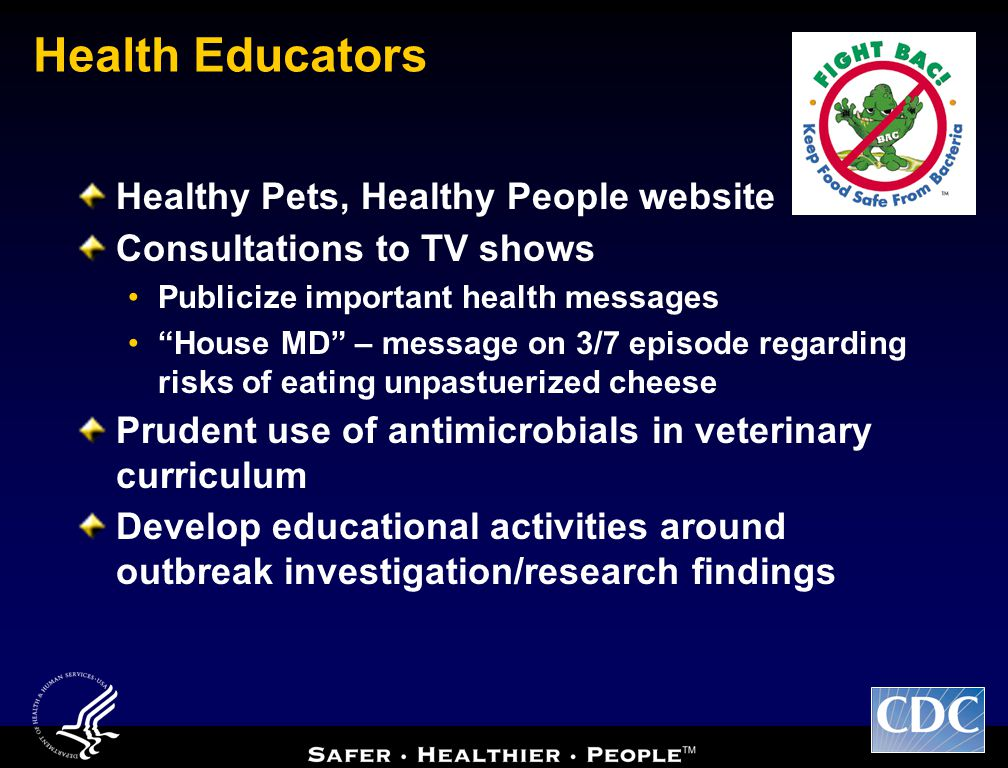 Health Educators Healthy Pets, Healthy People website