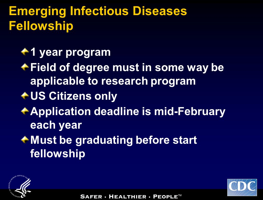 Emerging Infectious Diseases Fellowship