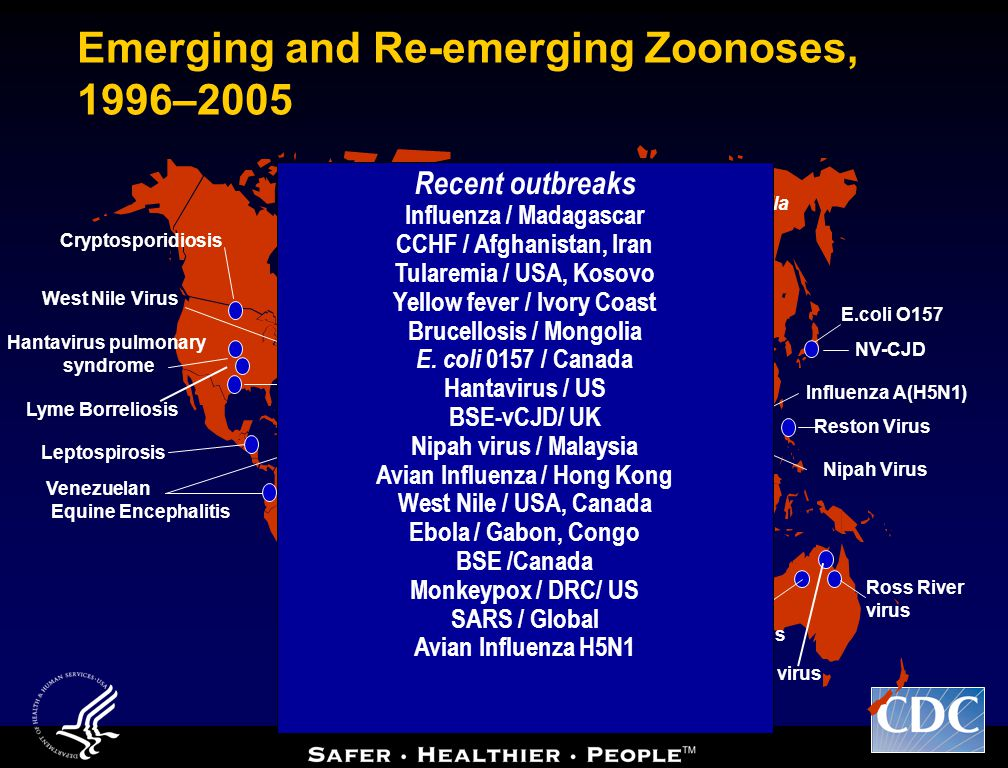 Emerging and Re-emerging Zoonoses, 1996–2005