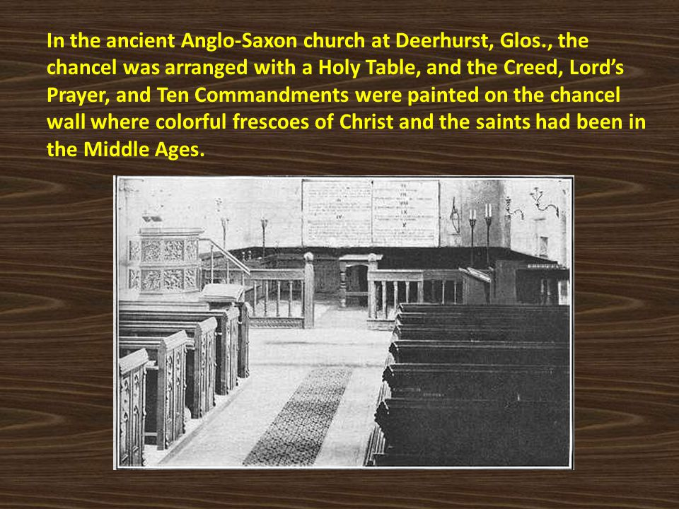 In the ancient Anglo-Saxon church at Deerhurst, Glos