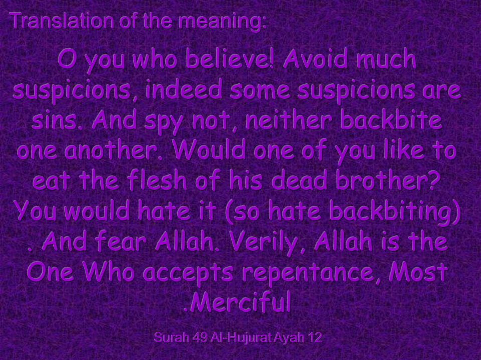 Translation of the meaning: