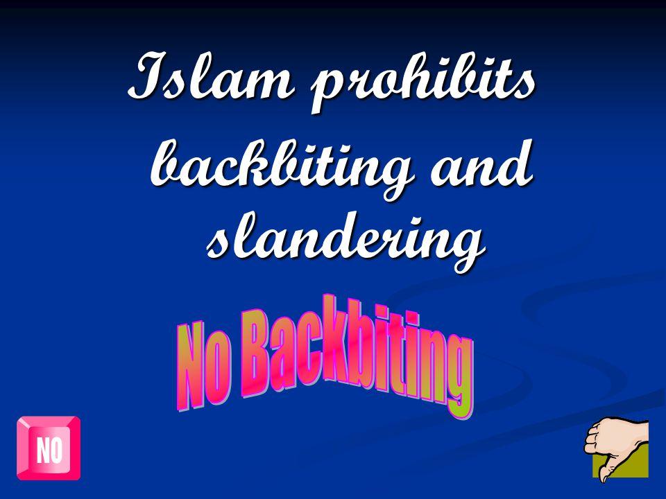 backbiting and slandering