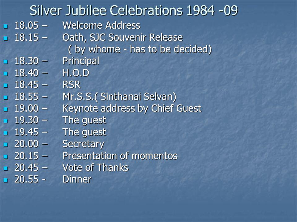 Silver Jubilee Celebrations 1984 -09