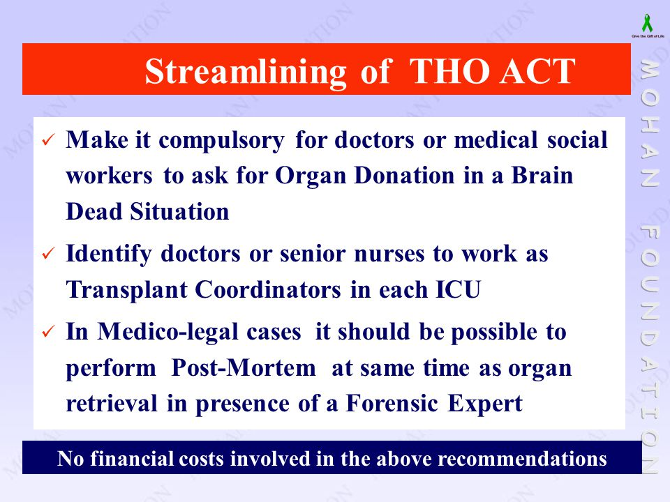 Streamlining of THO ACT