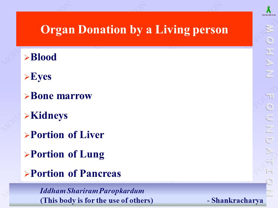 Organ Donation by a Living person