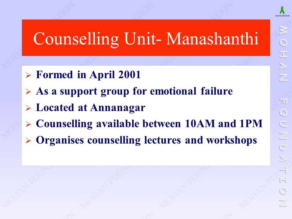 Counselling Unit- Manashanthi