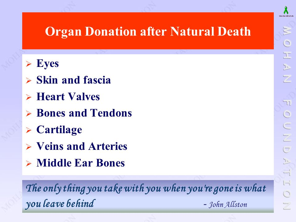 Organ Donation after Natural Death