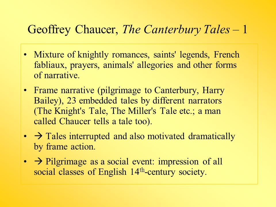 Geoffrey Chaucer, The Canterbury Tales – 1