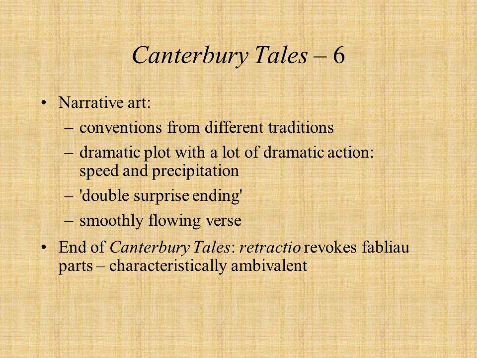 Canterbury Tales – 6 Narrative art: