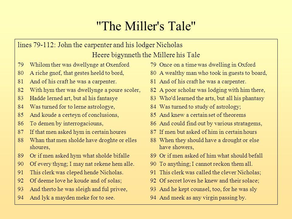 Heere bigynneth the Millere his Tale
