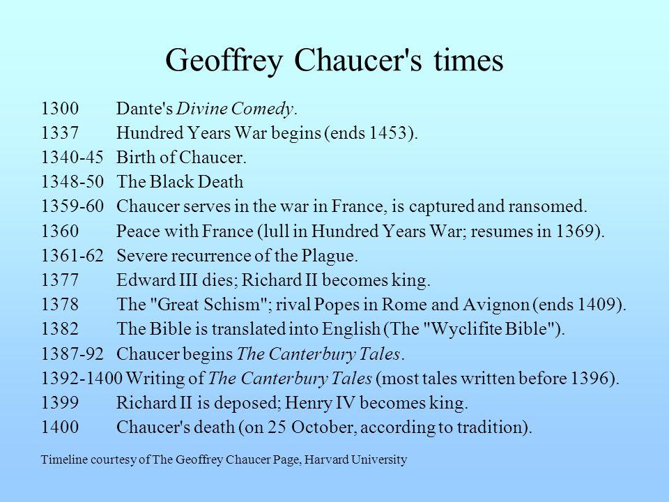 Geoffrey Chaucer s times