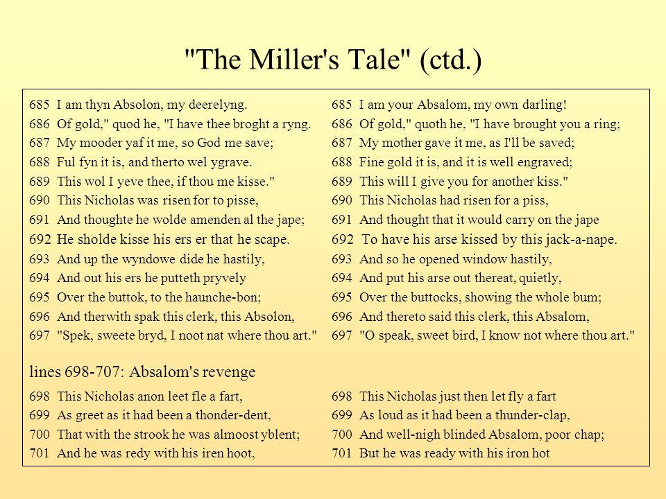 The Miller s Tale (ctd.) lines 698-707: Absalom s revenge