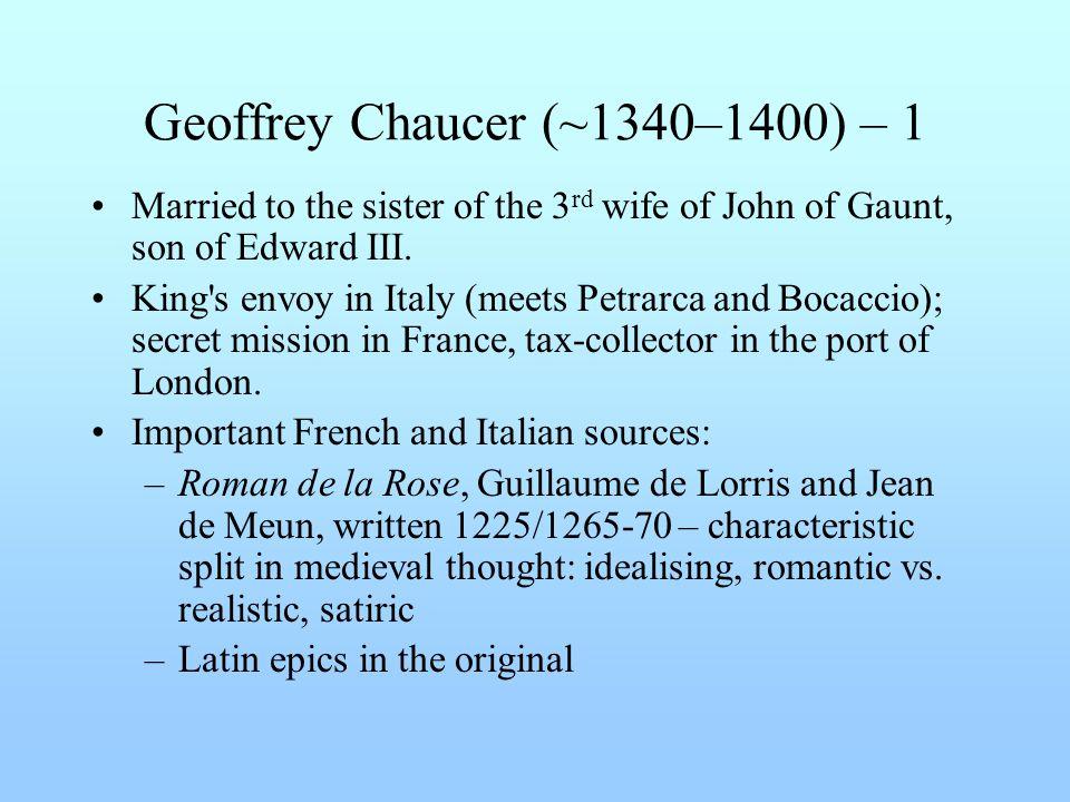 Geoffrey Chaucer (~1340–1400) – 1