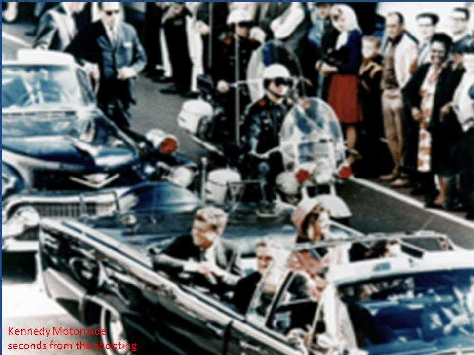 Kennedy Motorcade seconds from the shooting.