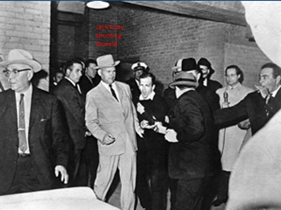 Jack Ruby shooting Oswald.
