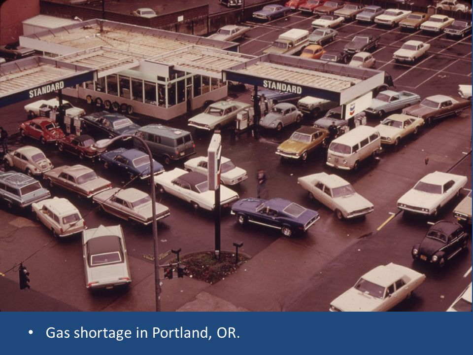 Gas shortage in Portland, OR.