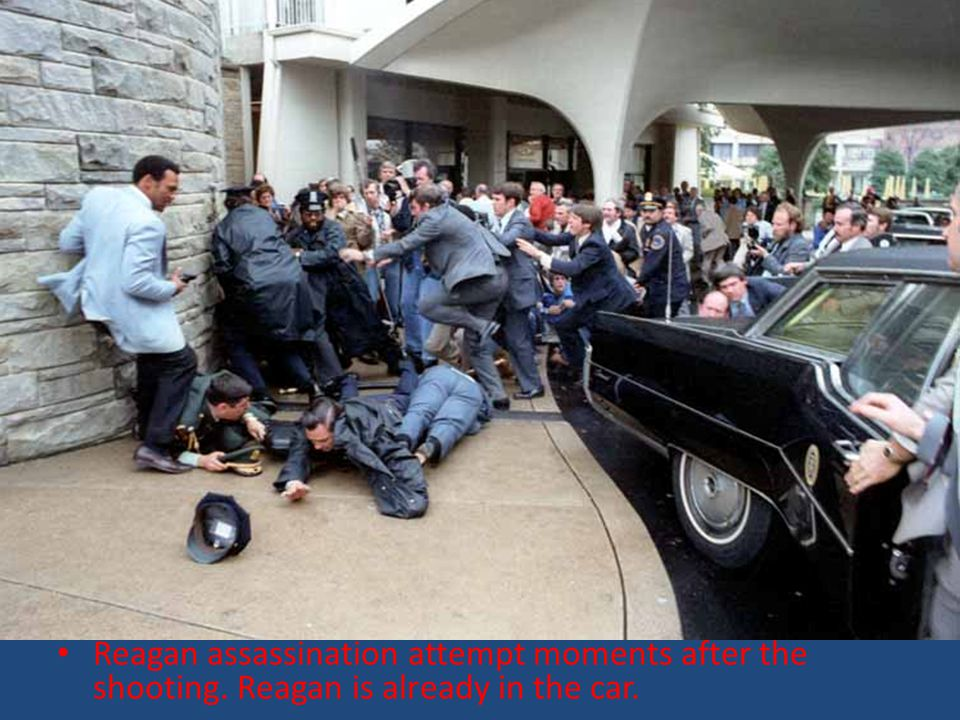 Reagan assassination attempt moments after the shooting