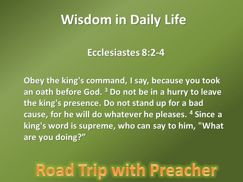 Wisdom in Daily Life