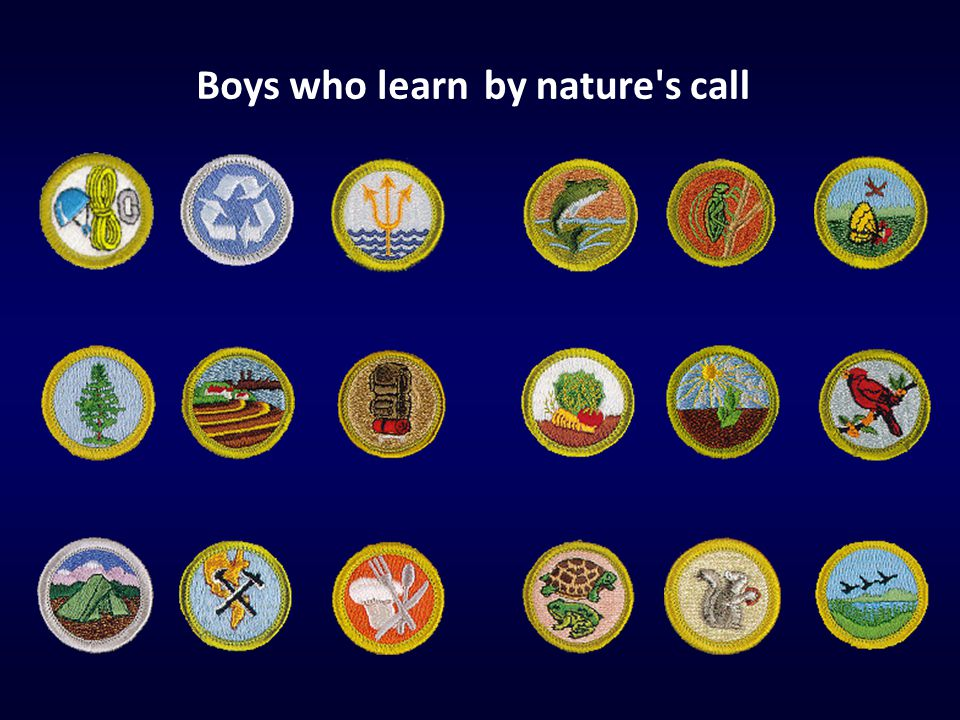 Boys who learn by nature s call