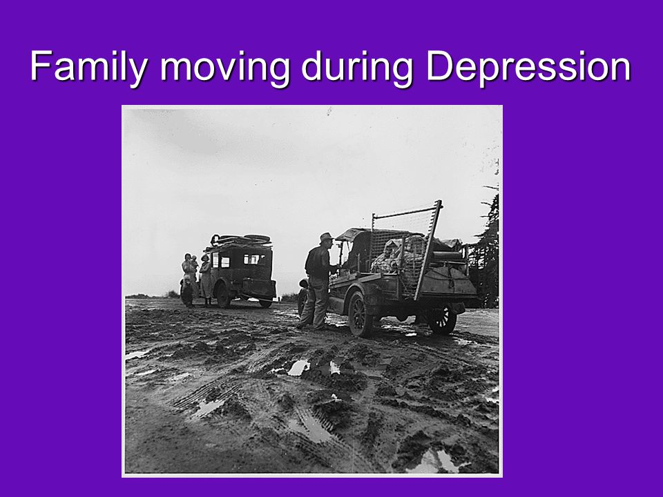 Family moving during Depression